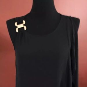 Thalia & Sodie Sz MM Black Top W/Buckle Strap #127